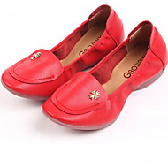 Women's Dance Shoes Sneakers Leather Low Heel Red/Fuchsia/Black/White