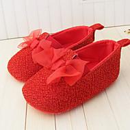 Svart / Gul / Rød / Hvit - Baby Sko - Bryllup / Formell / Fritid - Kustomiserte materialer - Flate sko