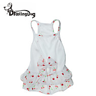 DroolingDog®  Lovely Cherrys Pattern 100% Cotton Dress for Dogs (Assorted Sizes)