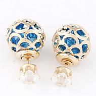 Women's Fashion Metal Beads Sparkling Alloy Stud Earrings