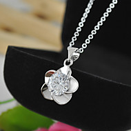 Women's New Necklace & Pendants Flower with CZ Pendant Necklaces