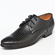 Men's Shoes Wedding/Office & Career/Party & Evening Leather Oxfords Black/Brown/White