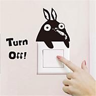 스위치 벽 스티커 벽 데칼, 만화 토끼 PVC 스위치 스티커