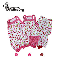 DroolingDog®  Lovely Strawberrys Pattern 100% Cotton Braces Skirt for Dogs (Assorted Sizes)