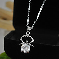 Women's Pendant Necklaces with Cute Little Girl CZ
