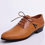 Men's Shoes Wedding/Office & Career/Party & Evening Leather Oxfords Black/White/Khaki