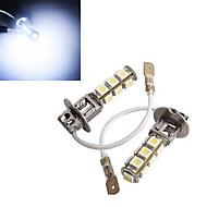 2 szt h3 4W 13x SMD 5050 150-200lm 6500-7500k zimne białe światło dekoracyjne DC 12V