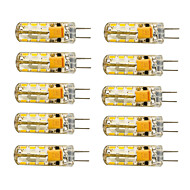 1.5W G4 Lâmpadas Espiga T 24 SMD 3014 100-120 lm Branco Quente / Branco Frio AC 12 V 10 pçs
