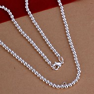 Necklace Chain Necklaces Jewelry Wedding / Party / Daily / Casual Sterling Silver Silver 1pc Gift