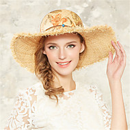 2015 Hot Sell Kenmont Spring Summer Women Lady Romantic Printing Beach Party Straw Hat Outdoor Vacation Sun Hat 3033