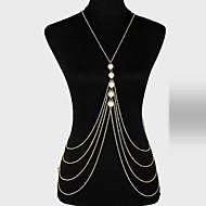 Dámské Tělové ozdoby Tělo Chain / Belly Chain Slitina Jedinečný design Módní Šperky Zlatá Šperky Párty 1ks