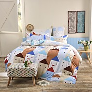Mingjie® Northern European Town Blue Queen and Twin Size Sanding Bedding Sets 4pcs for Boys and Girls Bed Linen China