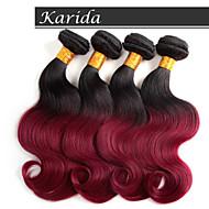 4pcs 12-26 inch Brazilian Ombre Hair Weaves Color 1b/530 Body Wave