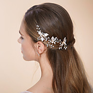 Women's Pearl/Rhinestone/Crystal/Alloy Headpiece - Wedding/Special Occasion Hair Pin 3 Pieces