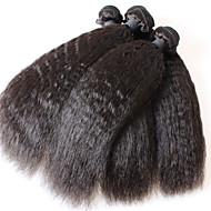 מוצרי שיער 3pcs ברזילאי קינקי ישר בתולת שיער שיער ישר קינקי ברזילאי בתולה אין שפיכת