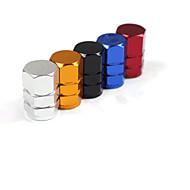aluminio tapa de la boquilla de la válvula del automóvil para una variedad de coche personalizado (ajustado colores surtidos)
