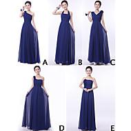 misturar& match andar vestidos de comprimento Chiffon vestidos de dama de honra (9 estilos de 3228009)