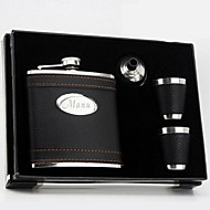 Gift Groomsman Personalized 4 Pieces Quality Stainless Steel 6-oz Flask Gift Set