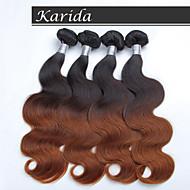 4 bundles 12-26 inch Body Wave Peruvian Ombre Hair Weaves