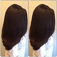 Brazilian Virgin Human Hair Yaki Straight Italian Yaki Glueless Full Lace Wig For Black Women