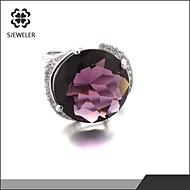 Prstenje sa stavom Sladak/Neformalan ( Kubični Zirconia/Platinum Plated
