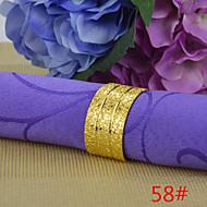 6pcs 25mm en forme d-matte de cuivre plaqué or rond de serviette