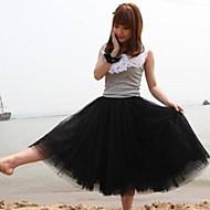 rose / blanc / noir / vert / beige jupe des femmes, vintage / MIDI mignon couches
