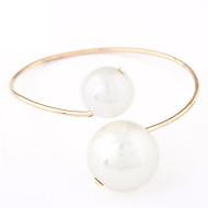 Women's European Style Fashion Large Pearl Alloy  Imitation Pearl Bracelet