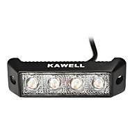 """KAWELL® 12W 5.5""""LED Amber Light for ATV/Boat/Auv/Truck/Car/4x4 Amber LED Spot Beam Light Bar"""