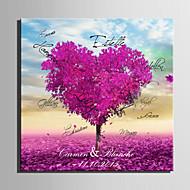 e-home® personlig signatur lerret ramme-lilla kjærlighet treet