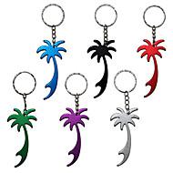 1pc palmeira de metal garrafa chaveiro abridor de anel chave de cadeia (cor aleatória)
