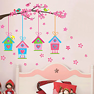Wall Stickers Wall Decals, Creative Pink Birdcage PVC Wall Stickers