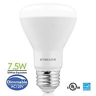 Bymea E26 7.5W 500lumen Dimmable LED BR20 Flood Bulbs Light 2700-6500K (100-120V)