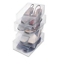 fashionabla smarta transparent förvaringsbox vikbar klara skokartong (inkluderar 10 skokartonger)