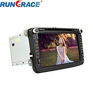 Rungrace 8-inch 2 Din TFT Screen In-Dash Car DVD Player For Volkswagen With Bluetooth,Navigation GPS,RDS