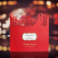 Düğün Davetiyeleri Davet Kartları Kişiselleştirilmiş Yandan Katlamalı 50 Adet/Set