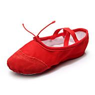 Kan spesialtilpasses - Dame - Dansesko - Ballett - Lær / Lerret / Paljetter - Flat hæl - Svart / Rød / Hvitt / Annet
