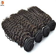 4Pcs Lot Burmese Virgin Hair Jerry Curl Natural Black Color #1B Human Hair Bundles