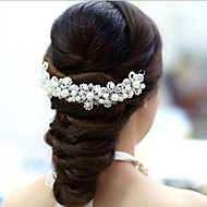 Women's Lace/Crystal/Imitation Pearl Headpiece - Wedding/Special Occasion Flowers 1 Piece