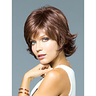 높은 품질의 캡이 짧은 곱슬 모노 상단 인간의 머리카락은 선택할 수있는 12 색 가발