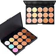 15 väriä 3in1 ammatillinen naamiointi luonnollinen kasvojen peitevoide / säätiö / aurinkopuuteri paletti (2 väri valitse)