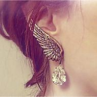 스터드 귀고리 여성용 합금 귀걸이 라인석