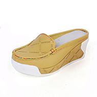Chaussures Femme - Bureau & Travail / Habillé / Décontracté - Blanc / Champagne / Orange - Plateforme - A Plateau / Bout Carré - Chaussons