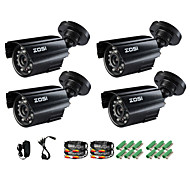 ZOSI® 4 pcs Camera Kit 800TVL IR Cut Outdoor Day Night CCTV Seurity  Surveillance Bullet Camera