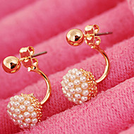 May  Polly Small grain spherical Pearl Earrings