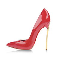 Women's Shoes Patent Leather Stiletto Heel Heels / Pointed Toe Heels Party & Evening / Dress / Casual Red