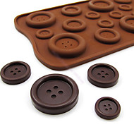Button Shaped Candy Chocolate Muffin Baking Mould Mold  22*10.5*0.5 cm