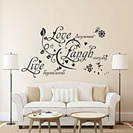 adesivos de parede do estilo decalques de parede amor vivo do riso palavras inglesas&cita parede adesivos pvc