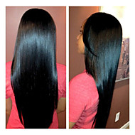 Full Lace Wig Silk Straight 10-28inch Natural Color 100% Brazilian Human Hair Wig
