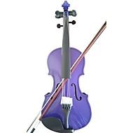 étudiant violon acoustique pleine épinette 4/4 d'érable avec le cas arc colophane